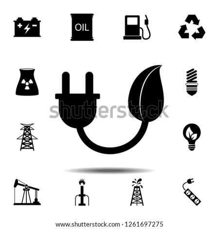 energy save icon. Simple glyph vector element of energy icons set for UI and UX, website or mobile application