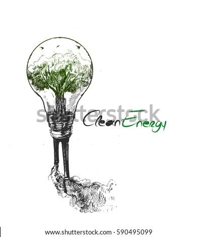 energy saving concept  green