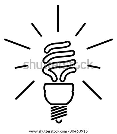 stock vector energy saving fluorescent light bulb 30460915 3 bulb fluorescent light fixtures 3 find image about wiring,Ceiling Light Fixture Wiring Diagram