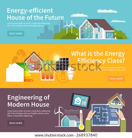 energy saving house horizontal