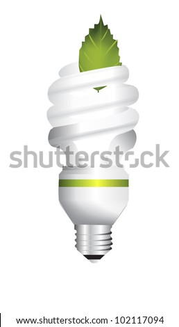 Energy saving light bulb creative vector