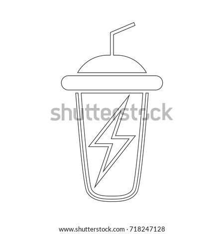 energy sport drink icon