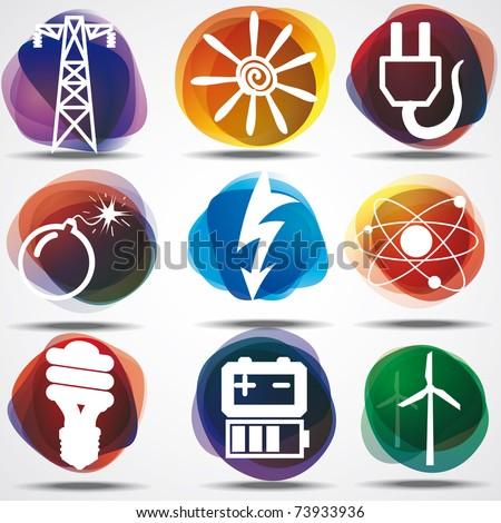 Energy Symbols Set.