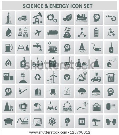 Energy & technology icons,vector