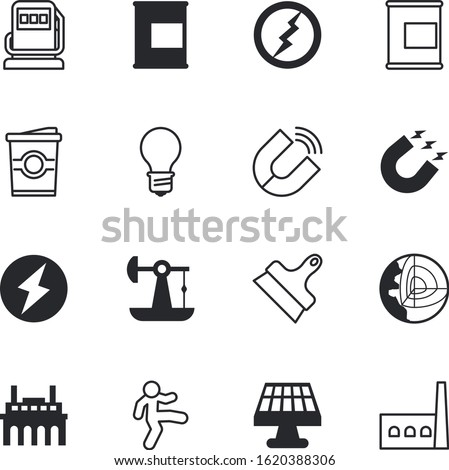 energy vector icon set such as: auto, fastfood, shiny, infographics, solar, transportation, nature, temelin, geology, section, caffeine, service, template, save, filling, violet, streching, shadow