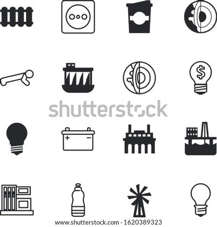 energy vector icon set such as: eco, storage, gasoline, caffeine, body, people, dam, espresso, iron, refill, adventure, lifestyle, urban, plumbing, oilfield, ampere, volt, metal, bike, human