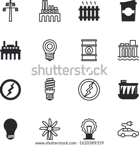 energy vector icon set such as: heat, economy, decorative, transport, barrel, distribution, fossil, shadow, beverage, shiny, drop, container, caffeine, line, yellow, home, mug, saving, sustainability