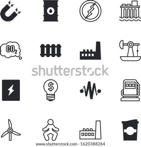 energy vector icon set such as: rotation, can, fuse, filling, machine, nuclear, atmosphere, liquid, stretch, vs, refill, espresso, caffeine, pipeline, electronics, disposable, paper, magnetic, drink