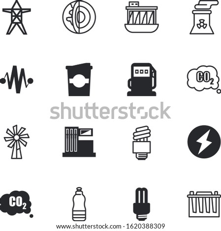 energy vector icon set such as: volt, section, container, cell, rotate, distribution, health, caffeine, education, refreshment, recreation, fresh, reusable, electrician, food, mocha, long, world