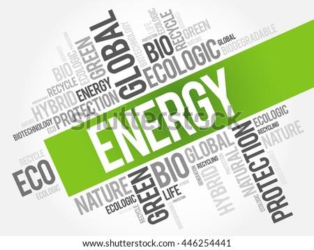 energy word cloud  conceptual