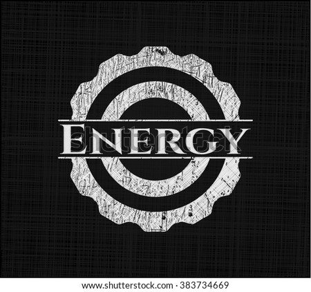 Energy written on a blackboard