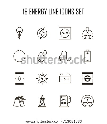 energyicon set collection of