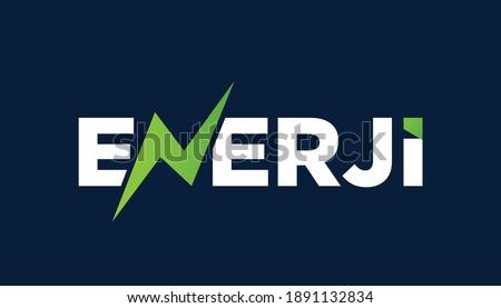 Enerji logo tasarımı, translation: energy logo design. vector Stok fotoğraf ©