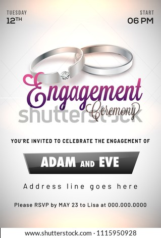 Engagement invitation card design.