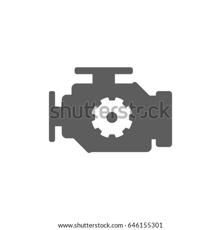 Engine icon in trendy flat style isolated on white background. Symbol for your web site design, logo, app, UI. Vector illustration, EPS