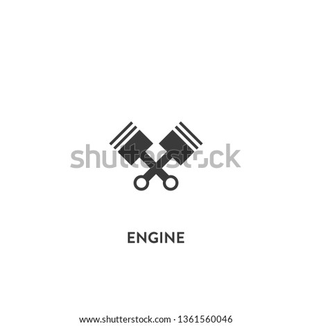 engine icon vector. engine sign on white background. engine icon for web and app
