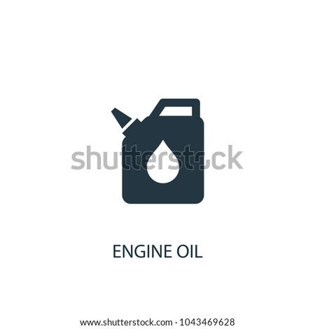 engine oil icon. Simple element illustration. engine oil concept symbol design from car service collection. Can be used for web and mobile.