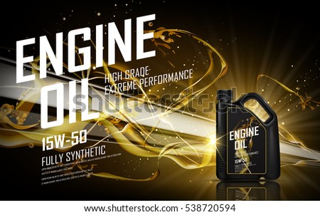 engine oil with golden beam