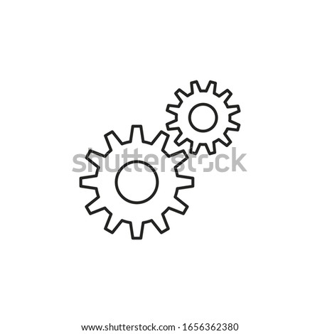 engine setting black icon vector