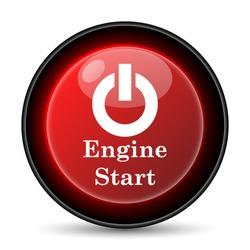Engine start icon. Internet button on white background. EPS10 vector