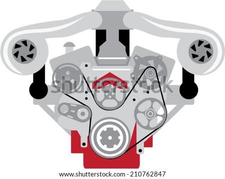 engine twin turbo vector