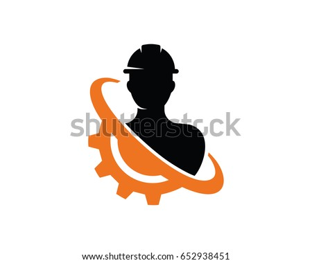 Engineer Logo Template Design Vector, Emblem, Design Concept, Creative Symbol, Icon