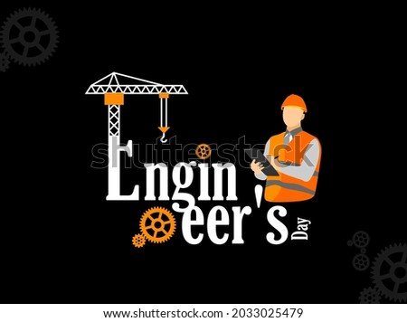 Engineer's Day. Engineers day banner and poster design for social media and print media.