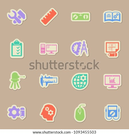 engineering color vector icons