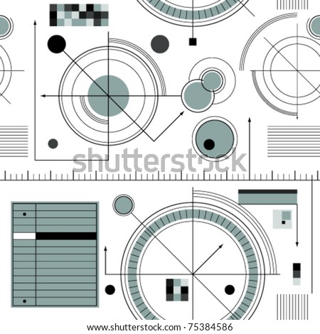 Engineering draft seamless pattern. Geometric vector wallpaper or website background.