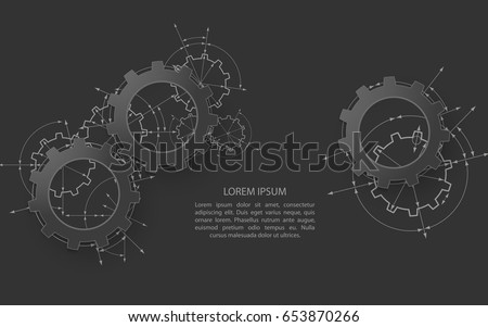 engineering drawing abstract