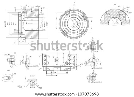 engineering drawing of