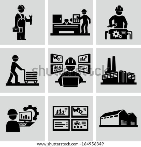 Engineering workshop. Industrial operation. Factory workers.
