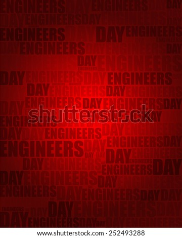 Engineers Day with same text on red gradient background.