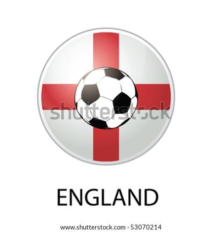 england football icon vector