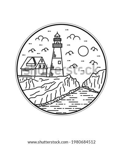 england lighthouse vector