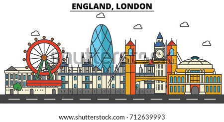 england  london. city skyline ...