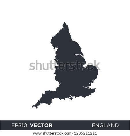 Map Of England Template.Shutterstock Puzzlepix