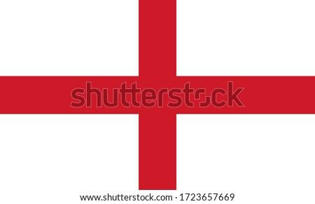 England national Flag Vector illustration.