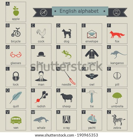 English alphabet Foto stock ©