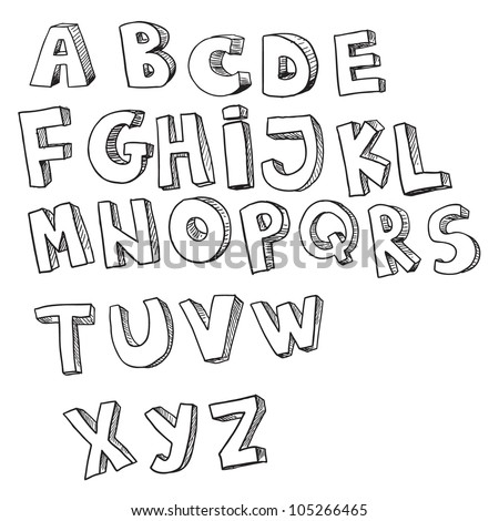 English alphabet (hand drawn)