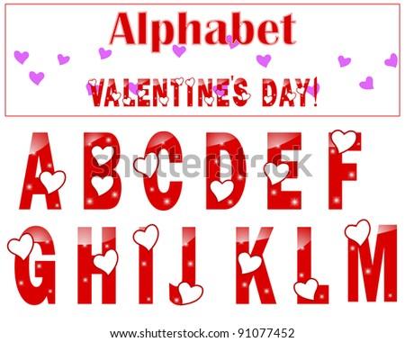 M Alphabet In Heart English Alphabet With ...