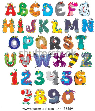 stock-vector-english-alphabet-with-funny-monsters
