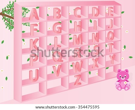 English alphabets for kids in vector format. Photo stock ©