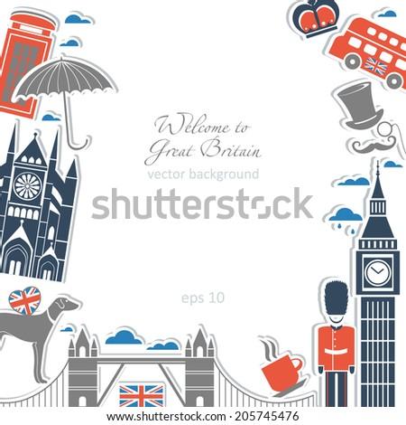english background set gothic