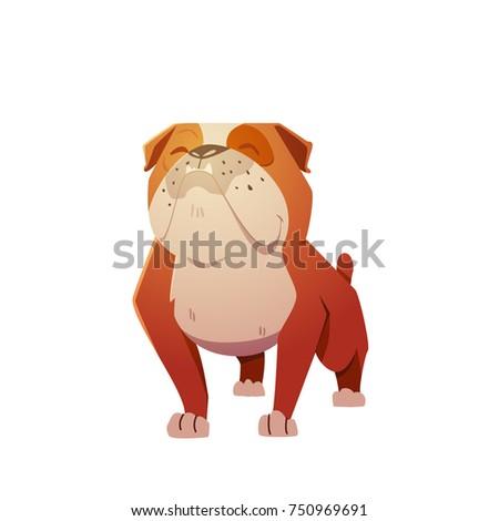 english bulldog dog character