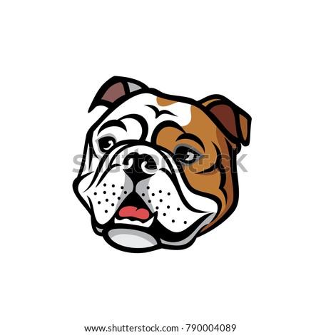 English bulldog face - isolated  vector illustration Stock photo ©