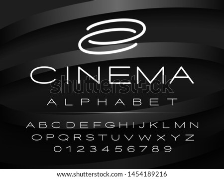 English capital letters design for logo, titles and more.