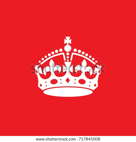 english crown icon isolated on