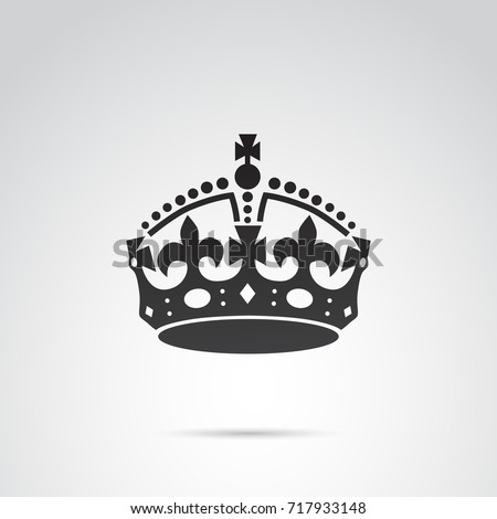 English crown icon isolated on white background.