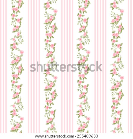english floral pattern with